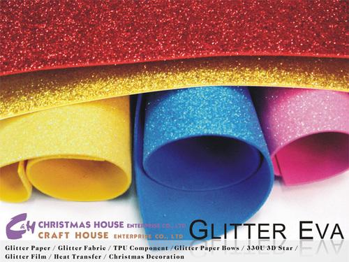 Textured Laser Glitter EVA Foam