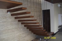 Mild Steel Wooden Stairs