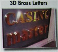 3d Brass Letters (Ss-20)