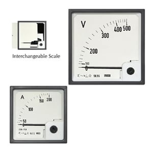 Ac Moving Iron Din Panel Ammeter And Voltmeters