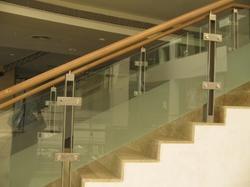 Stylish Glass Stair Railing