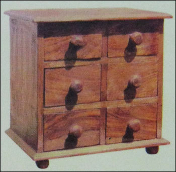 Six Drawer Wooden Small Spice Box In Jaipur Rajasthan Hastkala