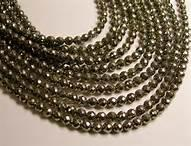 Pyrite Faceted Bead
