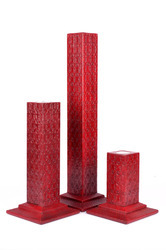 Attractive Leather Candle Stand