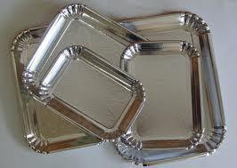 Silver Laminated Family Paper Plates in   Vadipatti(Taluk)