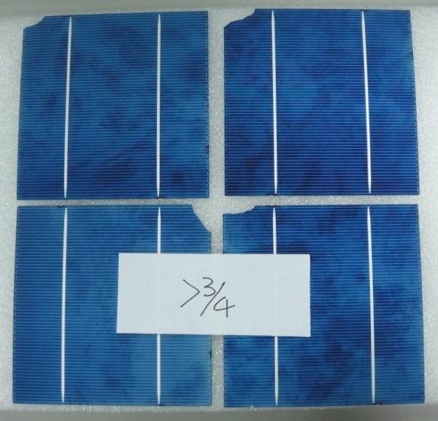 156 Multi 2BB/3BB Mix >3/4 Broken Solar Cells