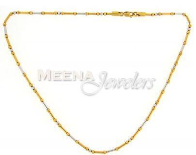 22Kt Gold Fancy (2 Tone) Chain