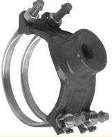 102 Double Strap Ductile Iron Service Saddle
