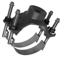 122 Double Strap Ductile Iron Service Saddle