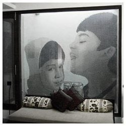 Family Picture In Glass Mosaic Tile