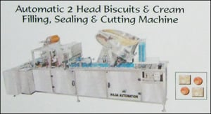 Automatic 2 Head Biscuits And Cream Filling - Sealing And Cutting Machine