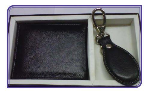 Gents Wallet with Key Chain Gift Set in  Sion (W)