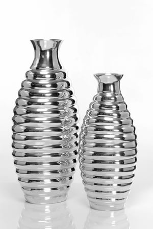 Silver Plated Flower Vases