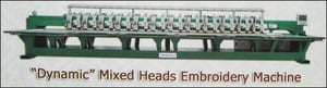 Mixed Heads Embroidery Machine