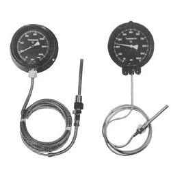 Mercury Actuated Dial Type Thermometer with Rigid Stem