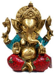 Ganesh Carved With Big Ears