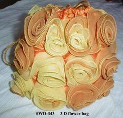 Ladies Flower Fabric Bag