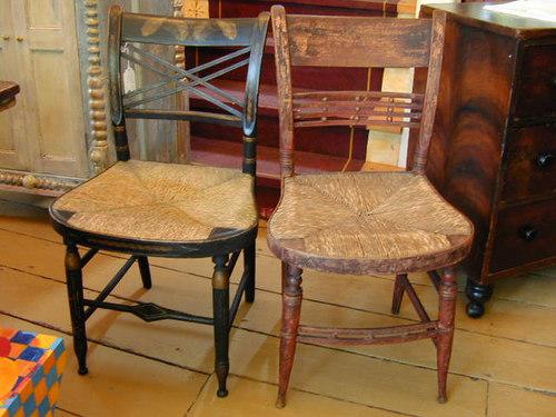 Antique Rush Seat Fancy Chair