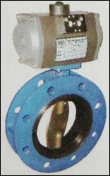Double Flange Butterfly Valve With Pneumatic Rotary Actuator