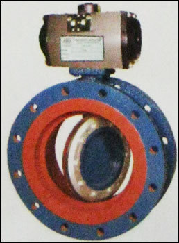Double Flange Off - Set Disc Butterfly Valve