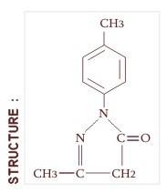 1(4-Tolyl) Phenyl 3-Methyl 5 Pyrazolone (Ptpmp)