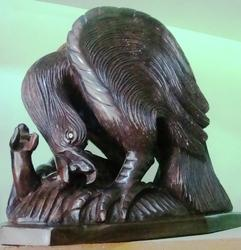 Hunting Eagle Carving Statue