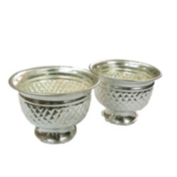 German Silver Plated Kumkum Bowls