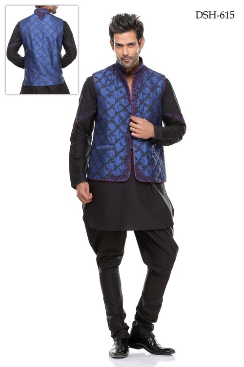 Waist Jacket Kurta Pajama in  Naraina - Ii