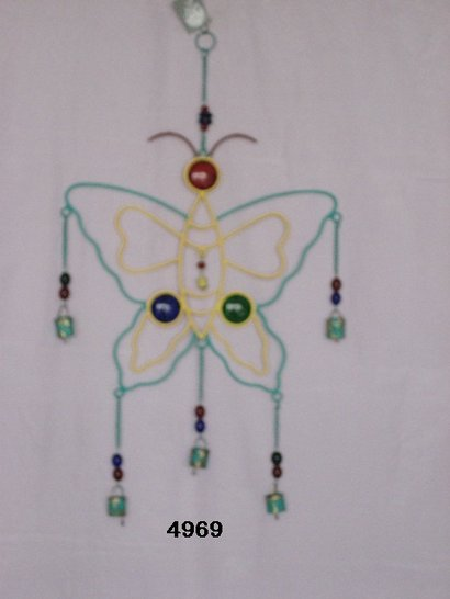 Butterfly Coloured Bell Chime