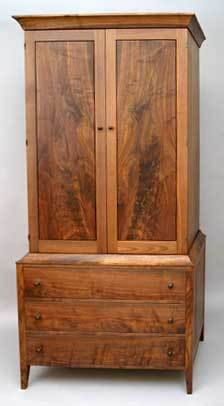 Three Drawer Armoire (Walnut)