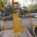 Multi Play System With 12 ft Double Slide Swing