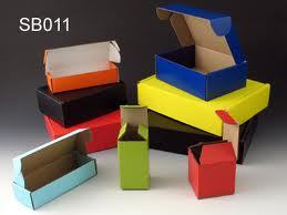 Multicolor Fluted Cartons