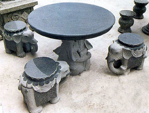 Garden Stone Table With Chair