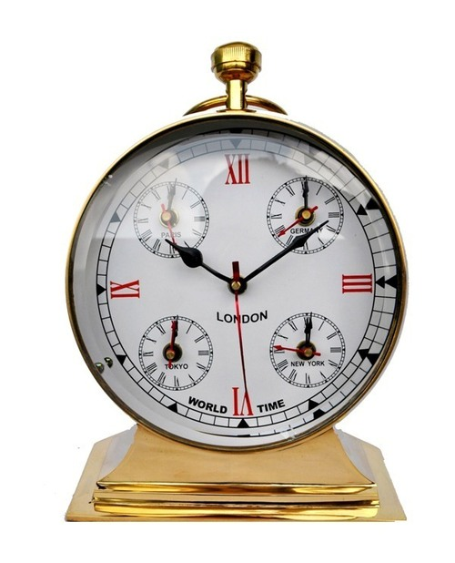 Table Clock Brass Metal