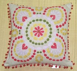 Elegant Design Embroidered Cushion Cover