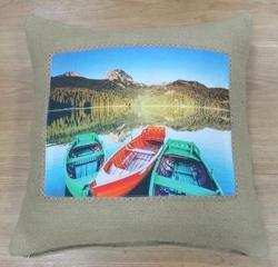 Stylish Jute Cushion Cover