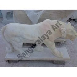 Walking Tiger In Stone Statue