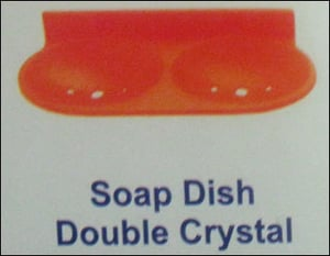 Double Crystal Soap Dish