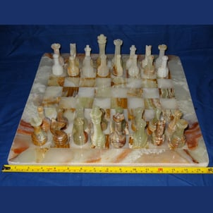 Ethical Pretty Heavy Marble Rare Chess Set