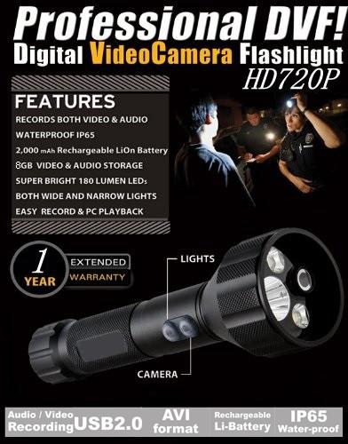 Professional Military Grade Flashlight Cum DVR Camcorder