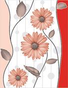 Fancy Flower Design Wall Tiles