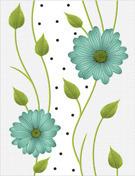 Stylish Flower Design Wall Tiles