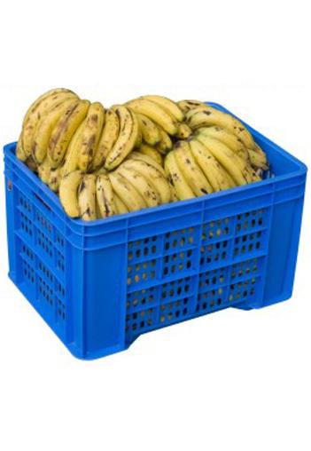 Plastic Banana Corrugated Crate (Model 53453)