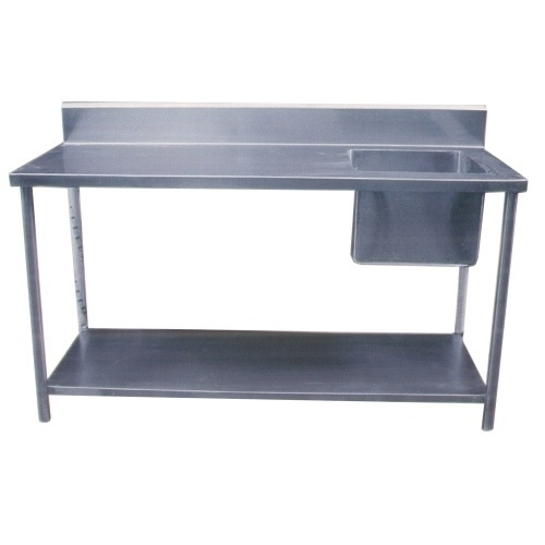 Single Sink Unit With Working Table Under Shelf