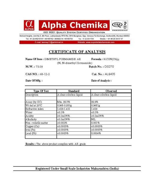 Dimethylformamide Ar