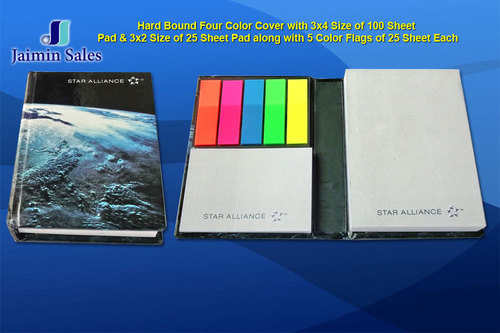 100 Sheet Hard Bound Four Color Pads