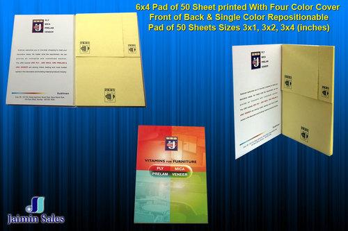 50 Printed Sheet Pad (6x4)