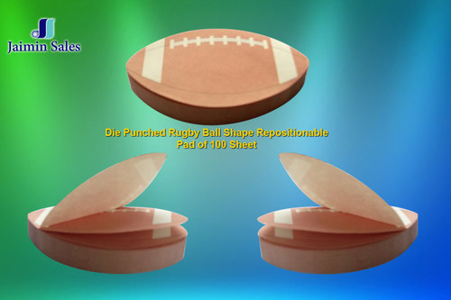 Die Punched Rugby Ball Re-Positionable Pads