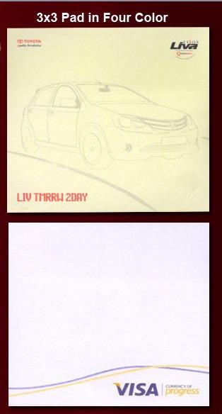 Four Color Sheet Pad 3x3