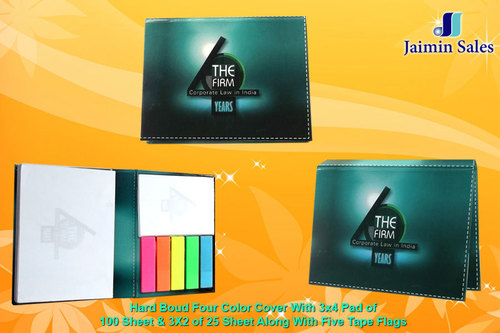 Hard Boud Four Color Cover With 3x4 Pad